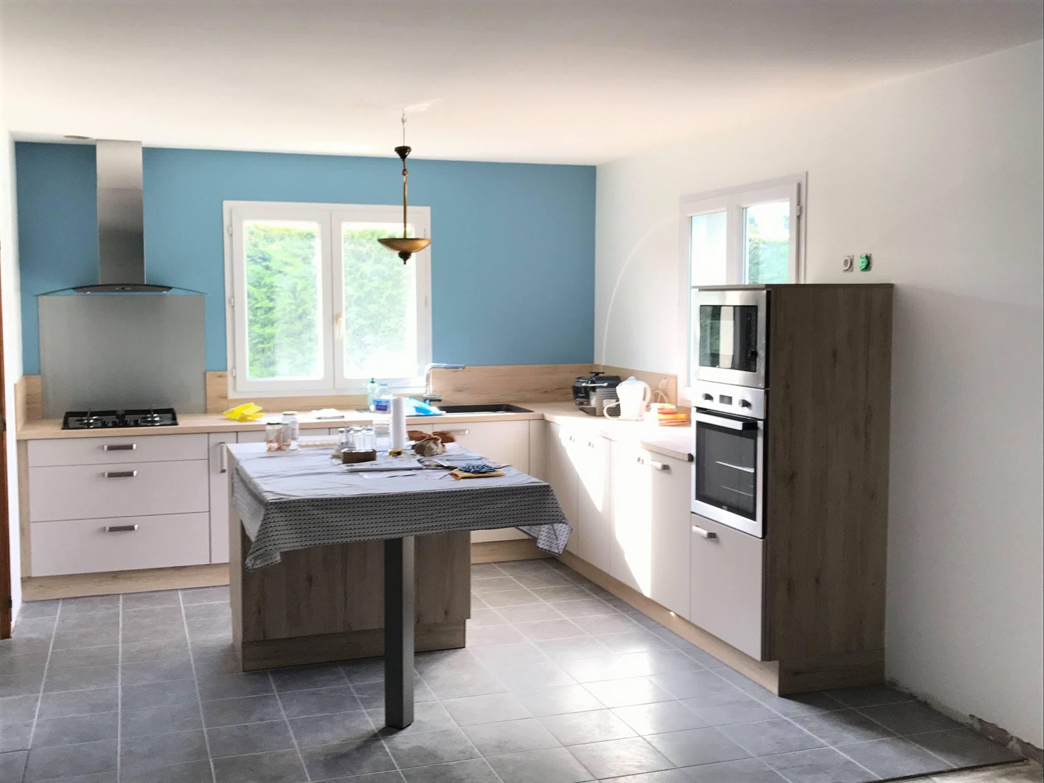 La cuisine après rénovation avec Creatis Habitat